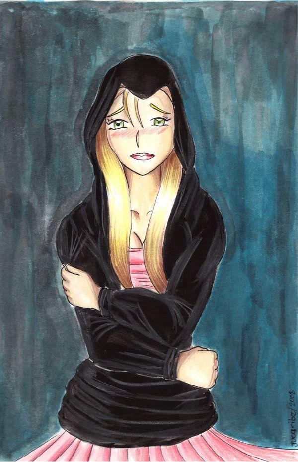 """Un dibujo pintado basado en la canción """"Luz sin gravedad"""" de Belinda"""