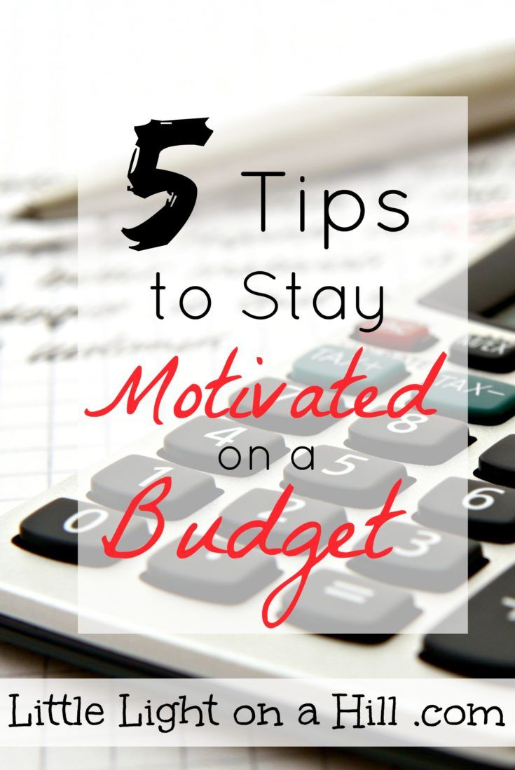 These are five great tips to helps us stay motivated when sticking to a budget. Staying motivated is half the battle when winning with money.