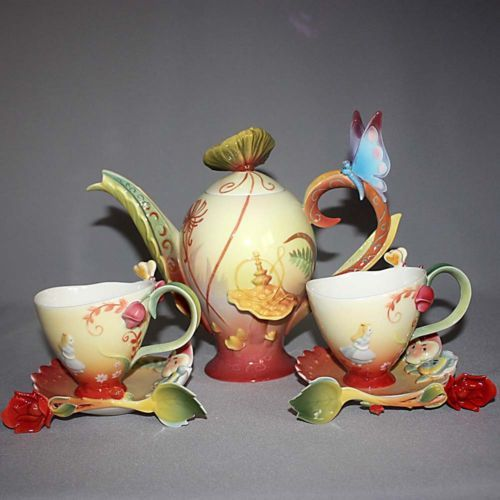 Ltd Ed Franz Porcelain Disney Alice In Wonderland Teapot
