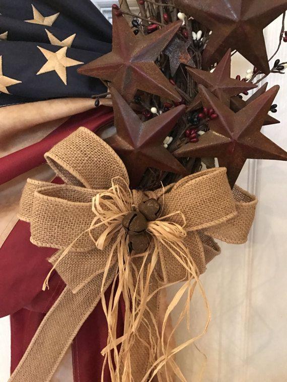 Patriotic wreath 4th of July Americana Wreath Memorial Day