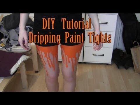 DIY dripping paint tights... These remind me of the ones Hayley Williams wore in the 'Still Into You' video!