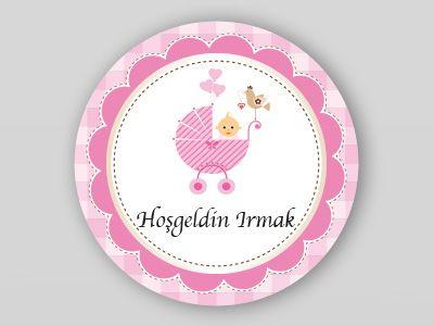Kız çocuğu için kurabiye etiket