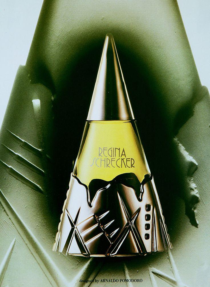 Regina Schrecker Perfume, project design by Arnaldo Pomodoro, 1986