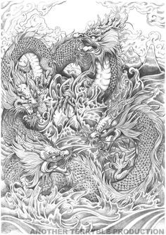 japanese dragon drawings in pencil - Google 검색