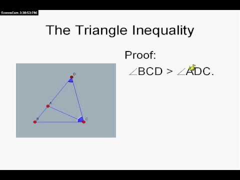 Proof of the Triangle Inequality.                                                                                                                                                                                 More