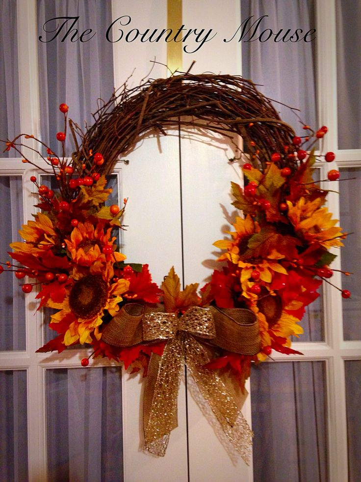 Autumn grapevine wreath by Gail Eddy