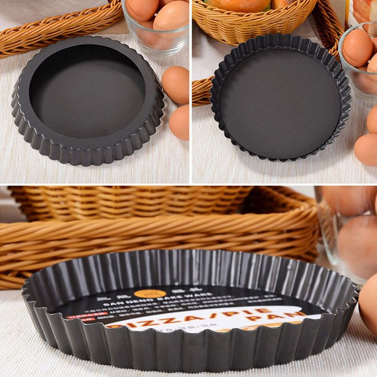 """6"""" 8"""" 9"""" Round Deep Dish Pizza Pan Non-stick Pie Tray Baking Kitchen Tool Steel #Unbranded"""