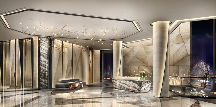 Modern entrance lobby design google barcelona foyer for Hotel foyer decor