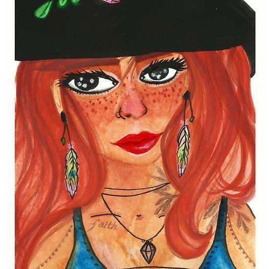 Witch - Tilda  #newartwork Witch - Tilda  https://www.redbubble.com/people/shashira/works/29517389-witch-tilda?asc=t via @redbubble #witch #biracialwomen #beatiful #feather #prettygirl #magic