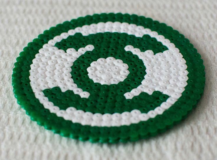 Green lantern logo hama perler beads by Mr Vandal