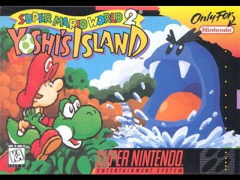 Let's Play Super Mario World 2: Yoshi's Island (SNES) 1-3 the cave of ch...