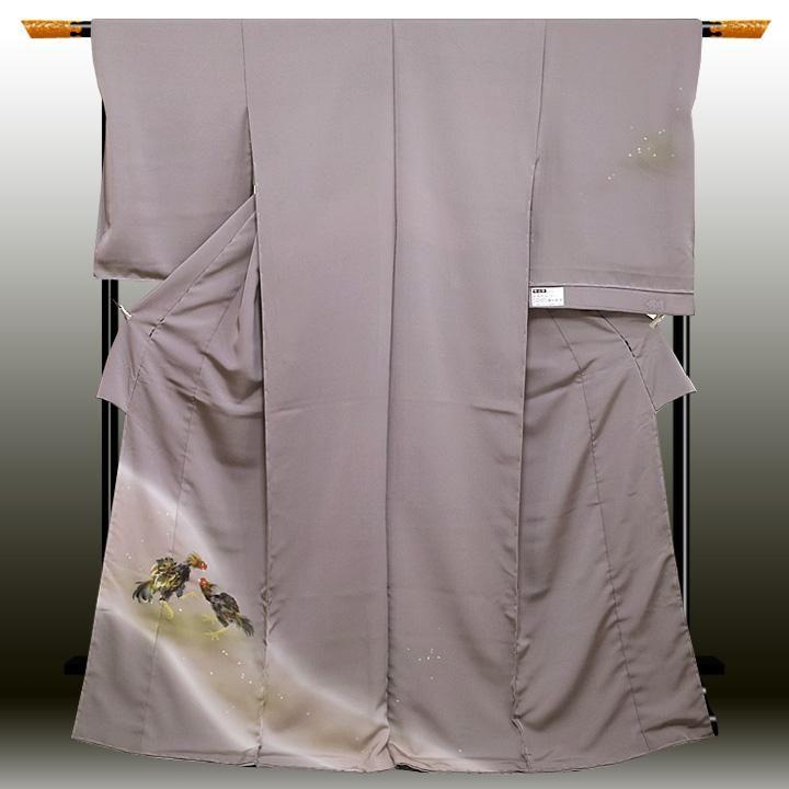 お仕立て込:染の北川謹製 和木沢絹訪問着【軍鶏】