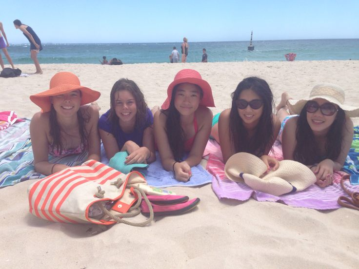 beaching it up with the girls 23/1/14