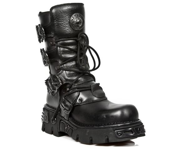 New rock m391 s18 reactor gothic industrial cybergoth metal buckle boots boots 6