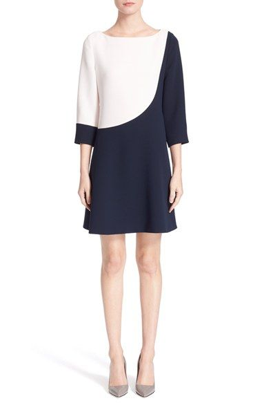 kate spade new york colorblock a-line dress available at #Nordstrom