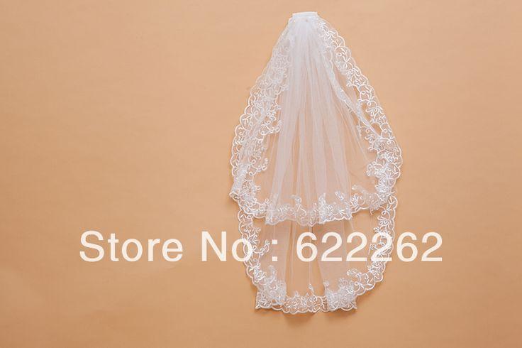 Новые Великолепные изысканных Новые Сказочный белый элегантный кружева Свадебная Фата Фата Дешевые Свадебные Аксессуары