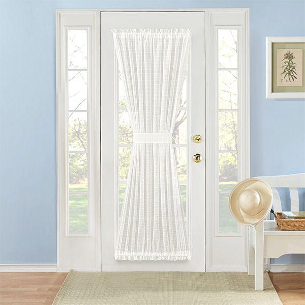 Montauk Semi Sheer Door Panel Panel Doors French Door Curtain Panels Decor