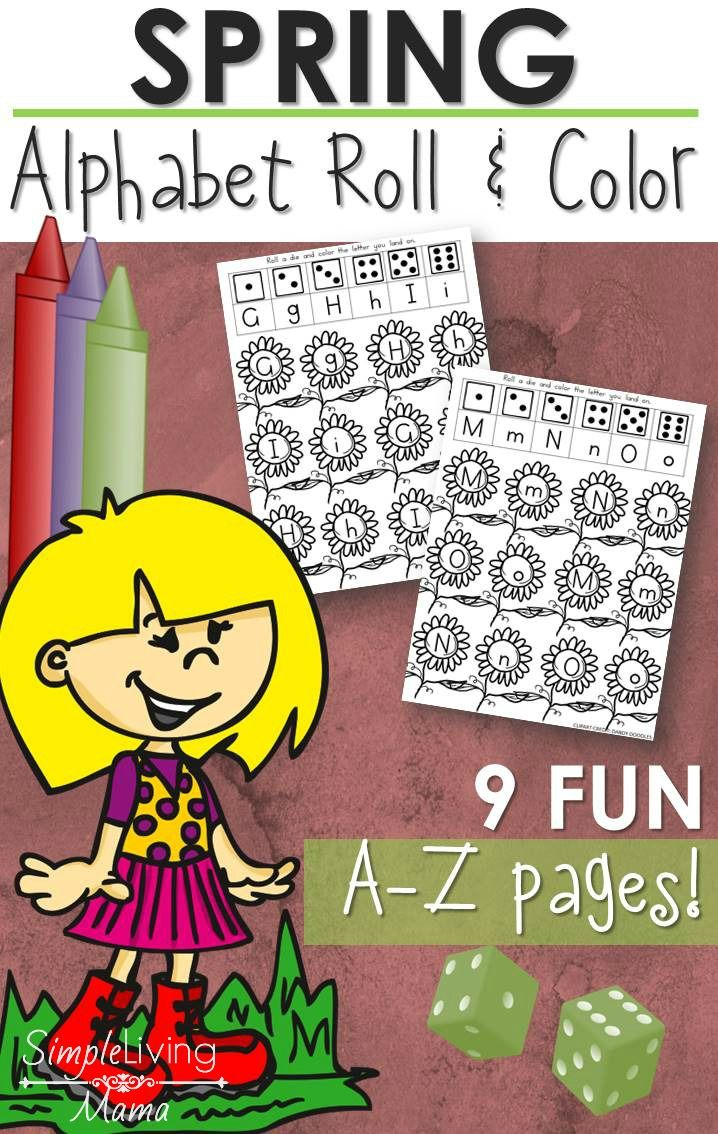 spring alphabet game roll and color - Fun Letters To Print