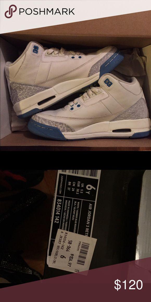 Jordan Retro 3s Harbor Blue Jordan retro 3s lightly worn, purchased in 2007. Still in box! Jordan Shoes Sneakers