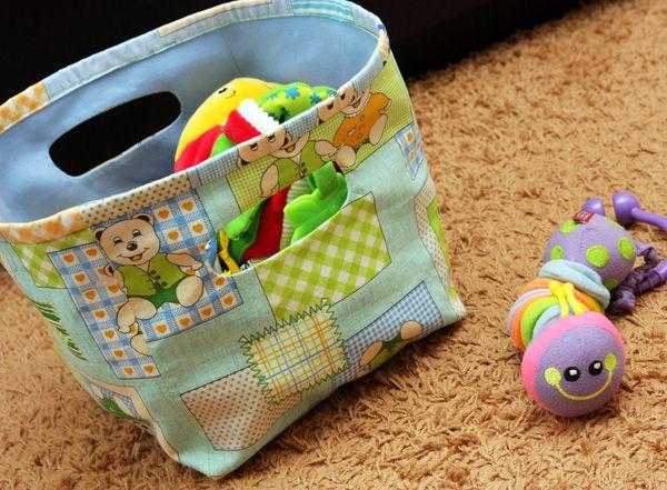 Elena Grishina: Короб для подгузников и корзинка для игрушек