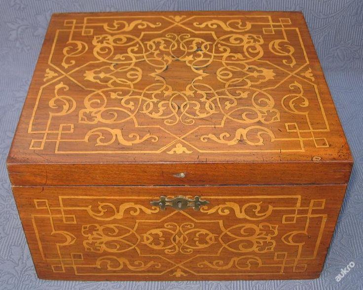 Šperkovnice s intarzií (6589753357) - Aukro - největší obchodní portál