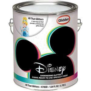 Disney All That Glitters Interior Specialty Paint, 1-Gallon-- walmart - it can go over any color!! way cool!