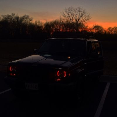 Caden's 1999 Jeep Cherokee Sport with Red LED Black Sealed Beam Headlight Conversion