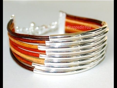 How To Make Leather Tube Bangle Bracelets - Bangles DIY step by step tutorial - YouTube