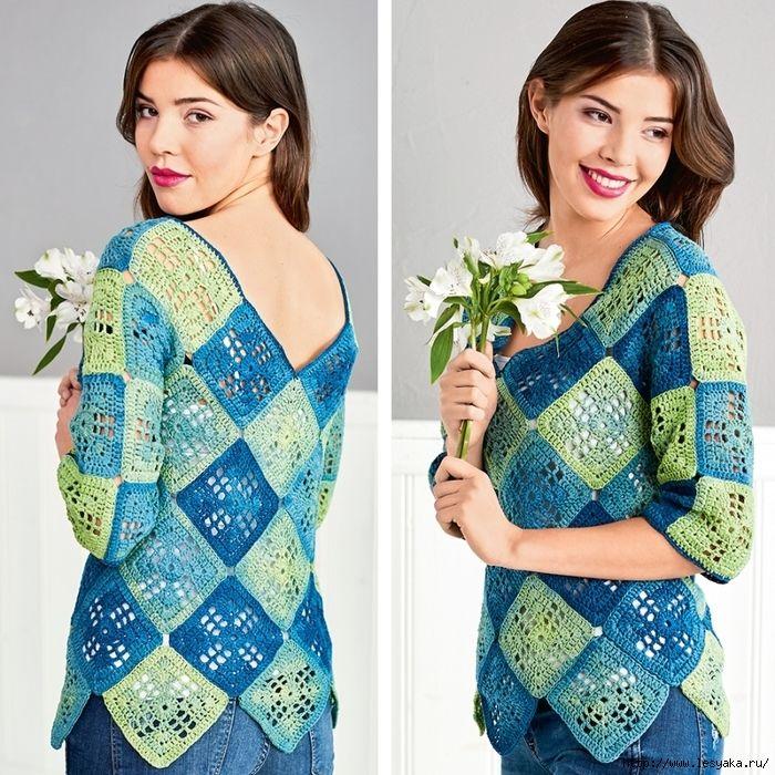 """Очаровательный сине-зеленый пуловер из """"бабушкиных квадратов"""" крючком!/3925073_9097c6fdc8fbc0896d04446efbab2663_2_ (700x700, 461Kb)"""