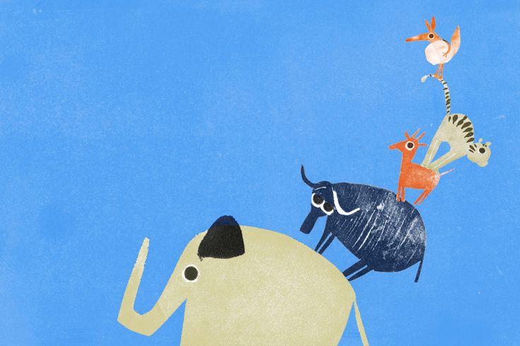 Ilustración del libro 'Bichos'. Edelbrá Editora (Brasil).    Anuska Allepuz    Nacida en Madrid, estudió Bellas Artes en la Universidad de Salamanca y después en la Cambridge School of Art, donde se especializó en la ilustración de cuentos infantiles. Su trabajo da vida a libros de editoriales como Anaya, Edebé o Santillana. Lo último que ha hecho es el cuento Lila Sacher y la expedición al Norte.