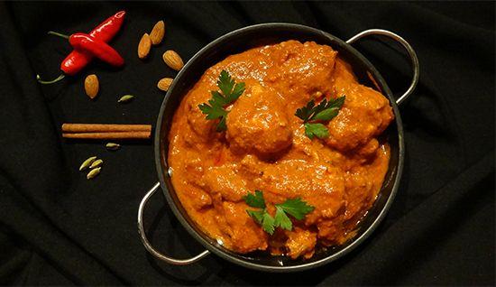 Масляная курица, Butter Chicken, Murgh Makhani, индийские рецепты блюд из курицы, цыпленка с пряностями, помидорами, сливками