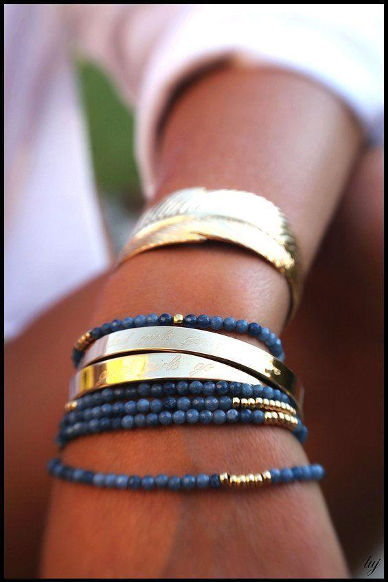 bracelet plume luj #accesorios para #bellas #mujer