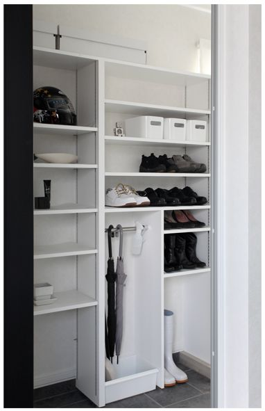 今回は家族用玄関を図面付きでご紹介します(*^m^*)玄関で活用しているブーツ...
