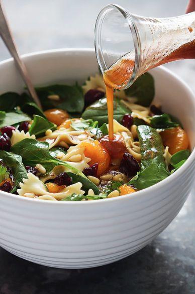 Salade de pâtes et mandarines avec vinaigrette Teriyaki! #salade #pâte #mandarines #vinaigrette #teriyaki #repas #dîner #recette