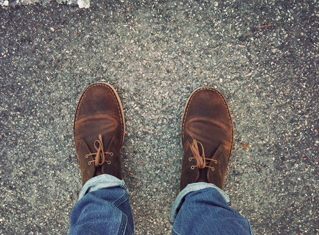 beeswax leather desert boots by clarks foot wear