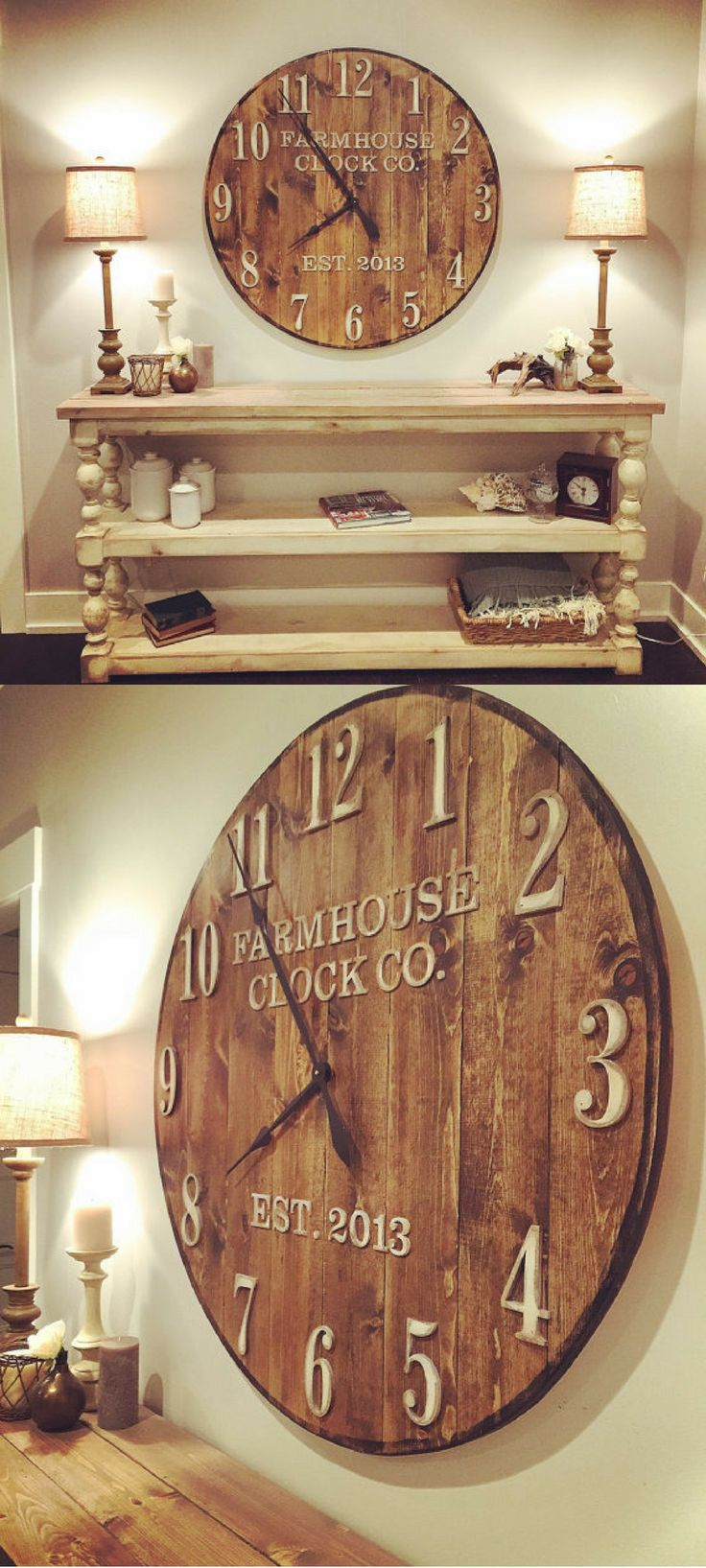 Best 25 Farmhouse Wall Clocks Ideas On Pinterest Barn