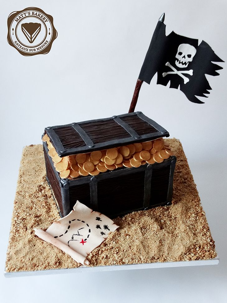 #matts_bakery #cakedesign #angers #pirate #treasure #chest #birthday #cake #satinice #coffre #anniversaire #gateau