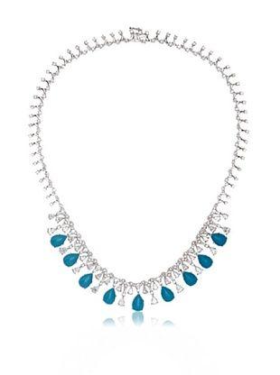 73% OFF CZ by Kenneth Jay Lane Cubic Zirconia & Turquoise Fringe Necklace
