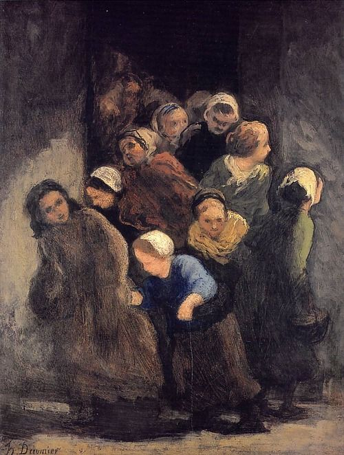 Honoré Daumier, Children Coming Out of School, c. 1847-48