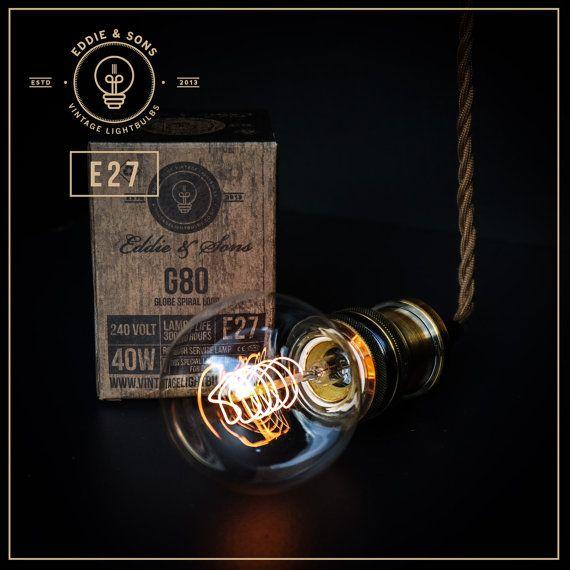 Edison Style Vintage Light bulb   G80 Medium par VintageLightbulbs