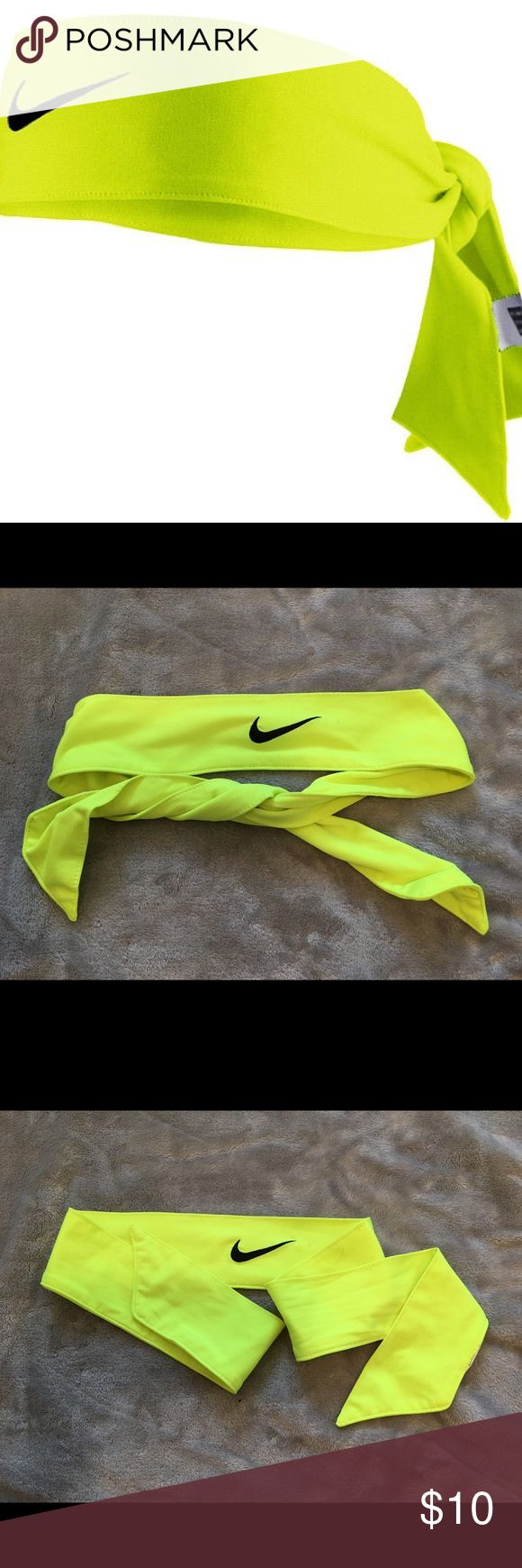 Nike Dri-Fit 2.0 Soccer / Tennis headband - Neon Cute head band for any sports activity. Ties in the back giving you custom fit! Loved this for soccer it's been washed and only worn a few times 💕 make me decent offers !! Nike Accessories Hair Accessories