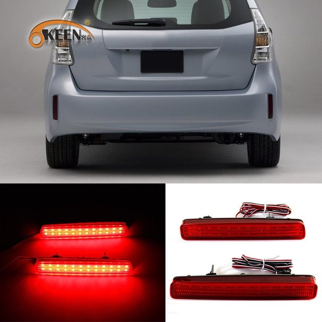 Okeen 2x Led Rear Bumper Reflector Tail Light For Toyota Noah Voxy