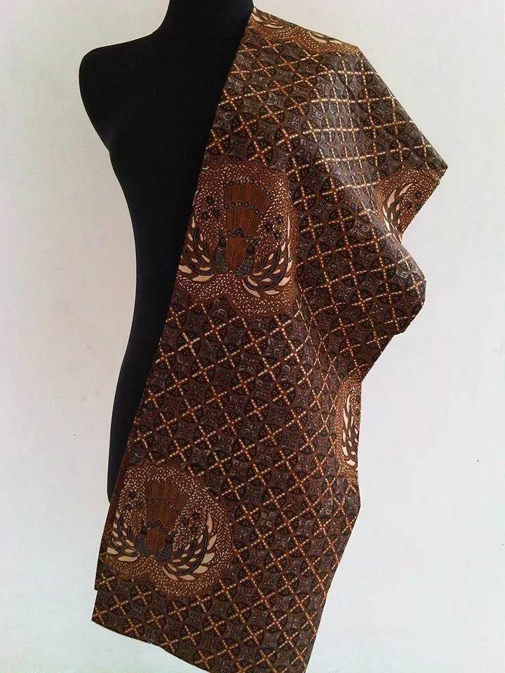 Combination Handprinted and Handpainted Batik Sogan