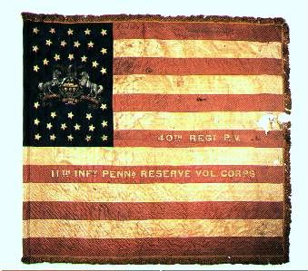 History: The first flag of the 11th Pennsylvania Reserves  Civil War