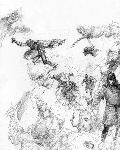 "Алан Ли (Alan Lee): Концепты к ""Властелину Колец"" II"