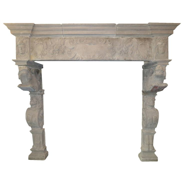 Monumental Antique Stone Renaissance Fireplace Mantel | From a unique collection of antique and modern fireplaces and mantels at https://www.1stdibs.com/furniture/building-garden/fireplaces-mantels/