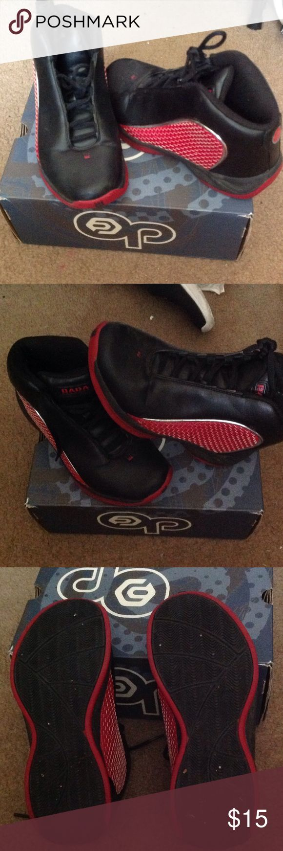 DADA men's size 7 Current sneakers Used with box Black & red sneakers size 7 USED but still in good condition with box from Big 5 sporting goods DADA Shoes Sneakers