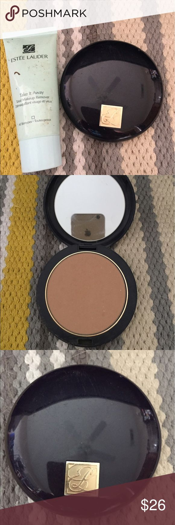 Estée Lauder Double Wear Powder Foundation Free cleanser included, all day wear, medium coverage in medium tone, retail price is $42. Gently used but still full. Estee Lauder Other