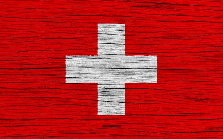 Hämta bilder Flagga Schweiz, 4k, Europa, trä-struktur, Schweiziska flaggan, nationella symboler, Schweiz flagga, konst, Schweiz