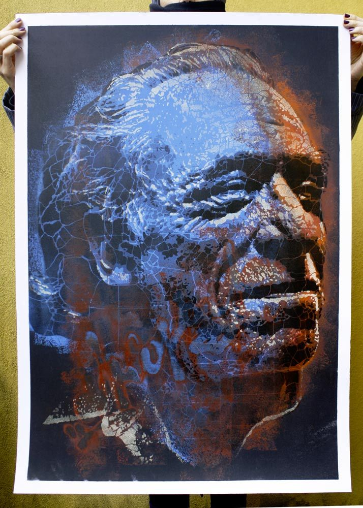 2013 | Charles Bukowski | portfolio of 15 original on paper, size 70x100 | 1/15